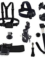 ourspop gp-K30 8-in-1 kit di accessori per GoPro eroe 4 3 + / 3/2/1 telecamera