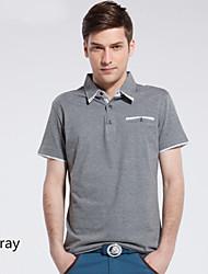 sommer nye mænds kortærmet t-shirt indgået favoriserer polo uforet overdel til teenagere