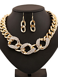 Women Vintage/Party/Work/Casual Alloy/Gemstone & Crystal/Acrylic Necklace/Earrings Sets