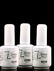 libeine especial para gel coat uv metálico base de gel unha polonês 15ml + top coat + reforçar gel