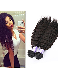 """3pcs / lot 8 """"-34"""" brasilianische tiefe Welle # 1b 300g tiefes Wellenhaar brasilianischen Haares Haarverlängerungen"""