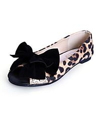 Zapatos de mujer - Tacón Plano - Punta Abierta / Puntiagudos / Punta Cerrada - Planos - Vestido / Casual - Ante -Negro / Azul Real /