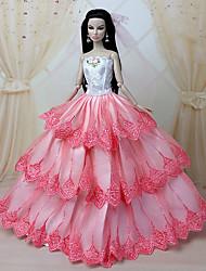 Soirée & Cérémonie Robes Pour Poupée Barbie Rose Robes