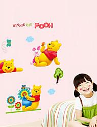 adesivos de parede adesivos de parede do estilo dos desenhos animados parque pooh parede adesivos pvc