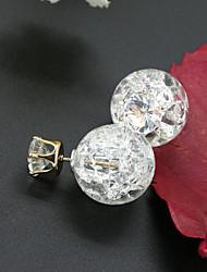 Women's Stud Earrings Fashion European Cubic Zirconia Rhinestone Alloy Jewelry For
