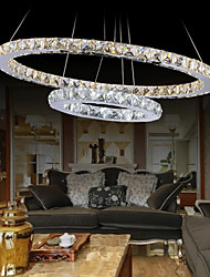 Dining Room Pendant Lights Crystal Chandeliers Lighting Ceiling Lamps Fixtures with LED Warm and LED Cool White CE UL