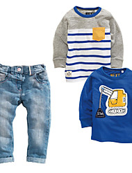Boy's Summer/All Seasons Inelastic Thin Short Sleeve Jeans/Clothing Set (Cotton Blend/Denim)