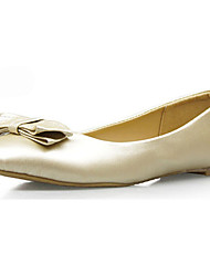 Women's Shoes Faux Leather Flat Heel Comfort/Ballerina/Novelty/Round Toe/Closed Toe Flats Wedding/Office & Career/Casual