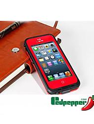 Pour Coque iPhone 5 Imperméable Coque Coque Intégrale Coque Armure Dur Polycarbonate pour Apple iPhone SE/5s/5