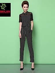 YIMILAN® Women's The New 2015 Fashionable Stripe Jumpsuits