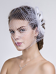 Women Fabric/Net Birdcage Veils With Multi-stone/Imitation Pearl Wedding/Party Headpiece