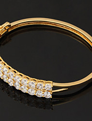 U7® Sprkle Cubic Zirconia Cuff Bracelets High Quality 18K Gold Plated Bangles Jewelry Gift For Women