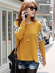 Women's Autumn Vogue Round Collar Batwing Sleeve Loose Knit T-shirt