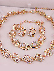 Fashion gold-plated necklace (necklace) (earrings) (Bracelet)