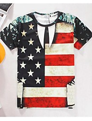 Women's High Quality Realistic Original Particularly Sexy Summer Breathable 3D Style T-Shirt——The Aational Flag