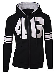 Men's Hoodie Sweats & Hoodies , Cotton Blend Long Sleeve Casual Hollow Out Winter / Fall HI MAN