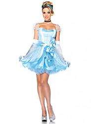 Zentai - Feminino - de Halloween/Carnaval - Fantasias de Conto de Fadas - Fantasias - Vestido/Luvas/Decoração de Cabelo