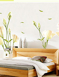 New wall stickers stickers Home Furnishing bedroom bedside sofa TV background decoration combination Lily