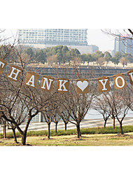 "Kraft Paper""THANK YOU""Wedding Party Banners"