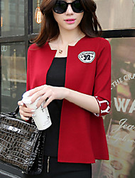 Women's Red/Black Jackets , Casual ½ Length Sleeve