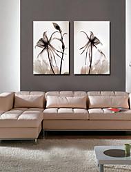 visual flores star®abstract conjunto lienzo de 2 piezas de lienzo de alta calidad listos para colgar