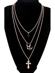Women's Angel wings Cross Gold Necklace