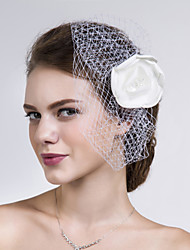 Women Satin/Net Flowers With Imitation Pearl Wedding/Party Headpiece