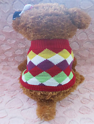 Dog Sweaters - XS / S / M - Winter - Red Mixed Material