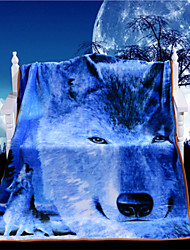 Wolf Blanket on Bed 3D Vivid Wild Blanket Microfiber Super Soft Warm Gift Throw Blanket Limited