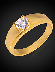 Ring AAA Cubic Zirconia Wedding / Party / Daily / Casual / Sports Jewelry Alloy / Cubic Zirconia / Platinum Plated / Gold Plated Women