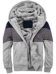 Men's Warm Fleece-lined Mens Hoodies