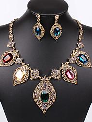 The European and American fashion temperament joker gold jewelry bride diamond necklace set # 0229