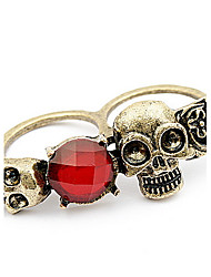 Restoring Ancient Ways Skull Double Row Ring