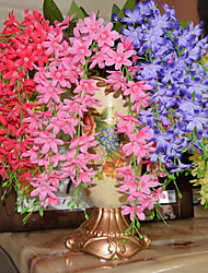 High Quality Artificial Flowers for Home Decoration Bright Color Chlorophytum Silk Flower for Wedding Decorations