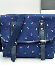 Damen - Beutel - Leinwand - Shopper - Blau