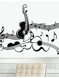 Music Wall Stickers Plane Wall Stickers Decorative Wall Stickers,Vinyl Material Re-Positionable Home Decoration Wall Decal