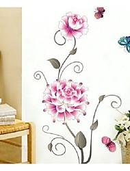 fleurs et de papillons aiment murs de la chambre autocollants