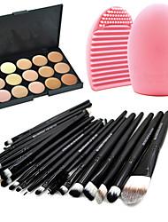 20Pincel de Sombrancelha / Pincel de Eyeliner Liquido / Pincel de Cílio (redonda) / Pincel para Blush / Pincel para Lábios / Pincel de