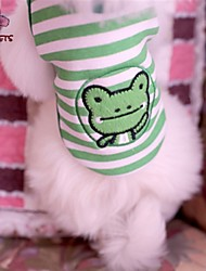Cat / Dog Shirt / T-Shirt Green Summer Stripe / Cartoon Wedding / Cosplay