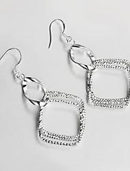 venda da promoção s925 prata banhado Brinco Pendente presente de Natal jóias brinco design clássico
