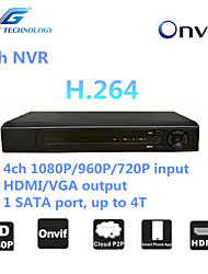 GREAT  4ch NVR with ONVIF2.4 Compatibility, 4ch 1080P/960P/720P input