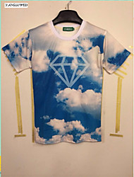 New Summer Fashion Men's Short Sleeve 3D Print T-shirt Leisure Jacket Hot Tops(M-XXL)