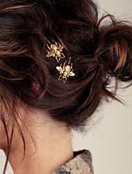 Women Fashion Alloy Honeybee Hair Pin With Casual Headpiece Gold/Silver