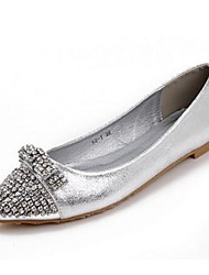 Women's Shoes Flat Heel Closed Toe Flats Casual Silver/Gold