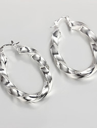2015 New Design 2015 Italy Style Silver Plated Africa Design Twist Hoop Earrings Classical Design