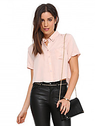 Women's American Apparel Unique Navel-Baring Slim Fit Sexy Shirt