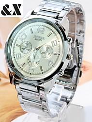 Men's  Fashion Quartz Analog Steel Belt Wrist Watch(Assorted Colors) Cool Watch Unique Watch