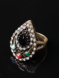 Party/Casual Alloy/Resin Gemstone Water Drop Shape Statement Ring