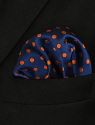 UH5 Shlax&Wing Large Pocket Square Blue Dots Dotty Mens Hankies Hanky Fashion