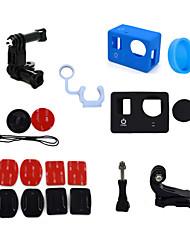 ourspop kit gp-k09-10 em uma acessórios para GoPro Hero 4 hero3 + câmera hero3